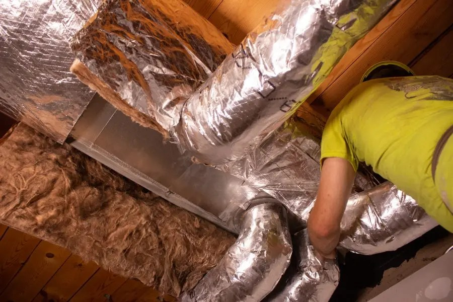 How does HVAC tape choice impact Indoor Air Quality?