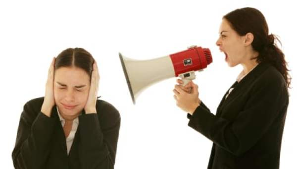 Inner Critic shouting at woman - take time out