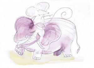 Mouse riding Elephant