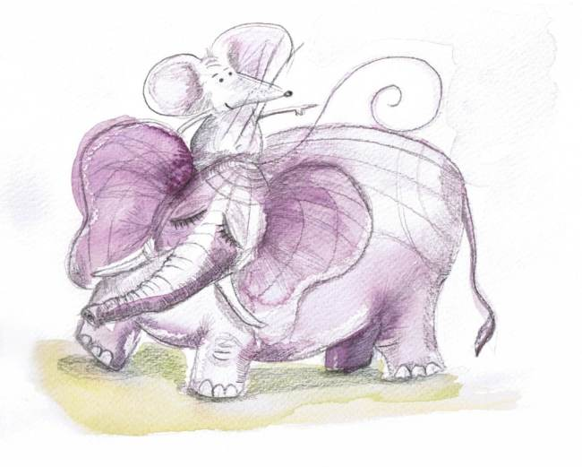 Mouse (conscious mind) riding elephant (subconscious mind) Trouble getting your mojo back