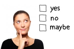 Making a decision - start before you're ready