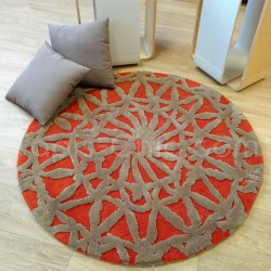 tapis rond ideal pour salon et table