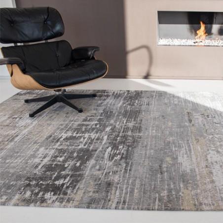 tapis de salon design atlantic streaks gris par louis de poortere