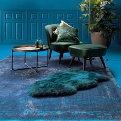 tapis bleu pas cher bleu canard ciel