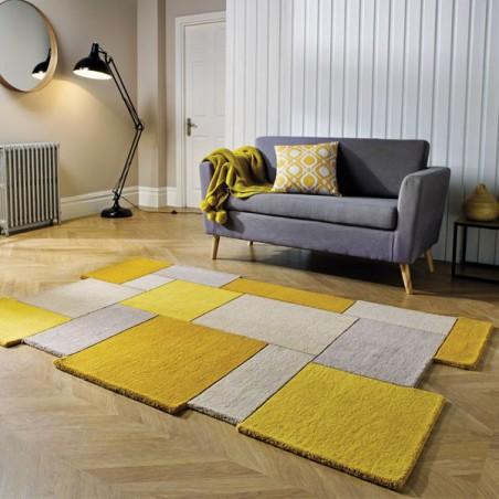 tapis salon jaune enredada