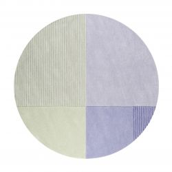 tapis rond vert pas cher 150cm 200cm
