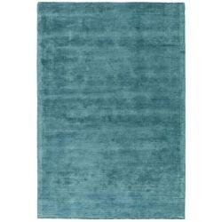 tapis bleu canard pas cher grand ou