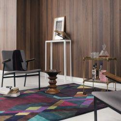 tapis multicolor pas cher moderne et