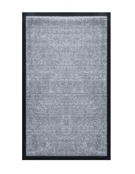 tapis de salle de bains nylon uni gris clair rectangulaire 50 x 120cm