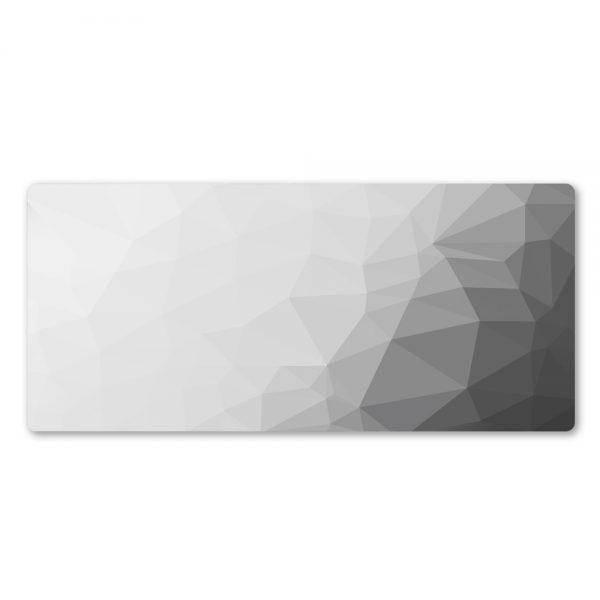 tapis de souris blanc et gris xxl
