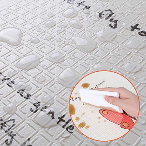 bamny tapis de jeu pour bebe tapis d eveil enfant 200 180 1cm tapis pliable en mousse xpe antiderapant