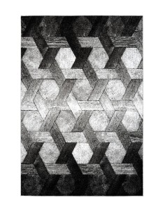 tapis design dominica noir et blanc