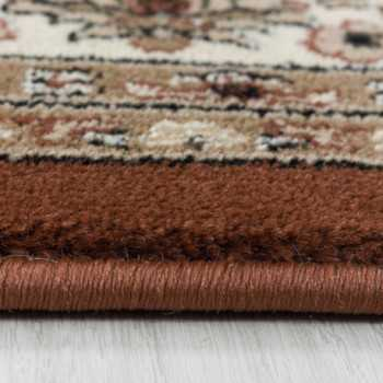 tapis de salon oriental a poil ras motif de antique bordure terra