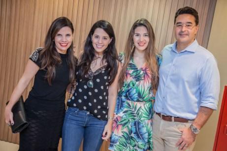 Daniela, Verusca, Nicole e Daniel Arruda