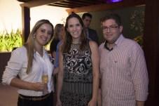 Livia Menezes, Renata Santos e Wander Jamil