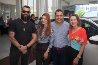 Dinho Alexandre e Raquel Agnes, Aguimar Ferreira e Luiza Lacerda