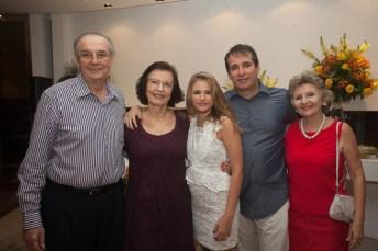 Jurandir e Eliane Picanço, Livia, Roger e Viena Pouchain