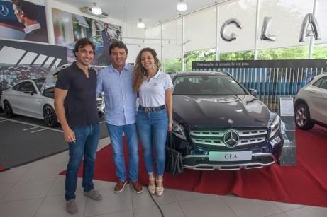 Rodrigo Carvalho, Luiz Teixeira e Gabriela Carvalho_
