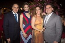 Bruno e Rebeca Bastos, Ticiana e Edson Queiroz Neto