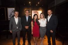 Marcelo cruz, Paulo Angelim, Bruna Sereno, Jessica Alves e Luciano Andreoti