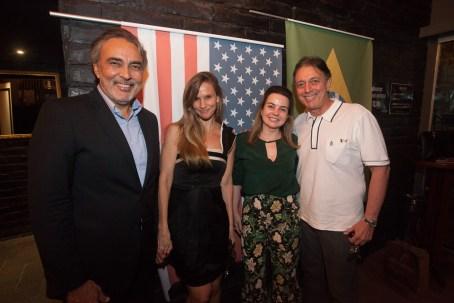 Paulo Angelim, Veronica Picanço, Daniela e Afranio Barreira