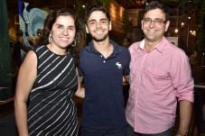 Cibele Sidin, Luiz Alberto Perine e Luiz Alberto Teixeira