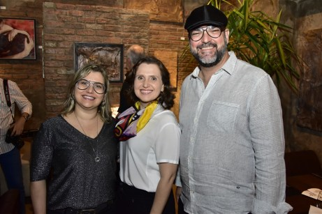 Veridiana Brasileiro, Andréa Daloide e Newton Whitehurst
