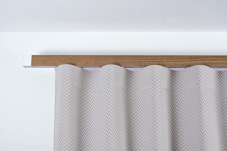 houles tringle a rideau en bois sur