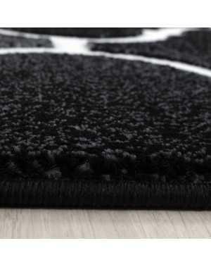 tapis salon moderne designer motif brilliant paillete marocain noir blanc