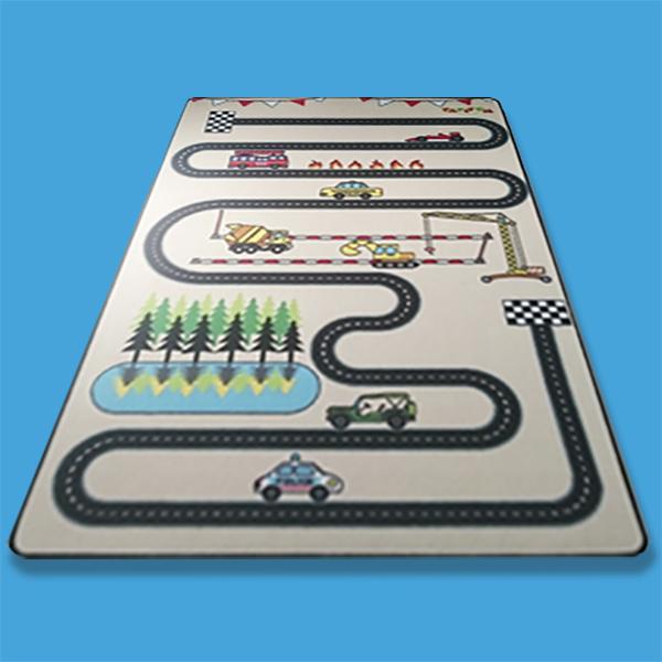 tapis enfant circuit design 130 x 200 cm