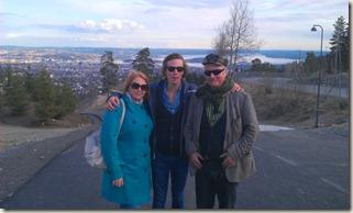 Vy över Oslofjorden med Tiina, Felix och jag