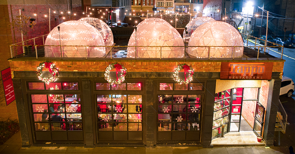 Tappo Rooftop Igloo Reservations  Rentals  Tappo Italian