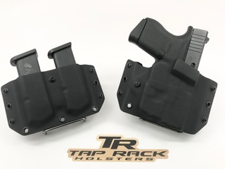 OWB (Outside the Waist Band) Custom Kydex Gun Holster and Double Magazine Holster Combo