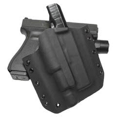 TRFSL/TRCSL - Tap Rack Full Size & Compact Size Light Custom Kydex OWB Gun Holster by Tap Rack Holsters and Custom Kydex