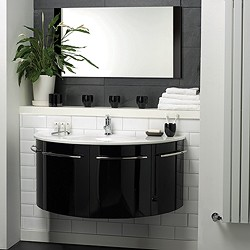 black kitchen cabinets for sale teak chairs hudson reed moon > wall hung furniture set (high gloss black).