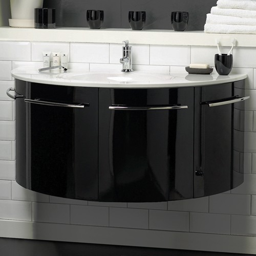 Hudson Reed Moon  Wall Hung Vanity Unit With Ceramic Top