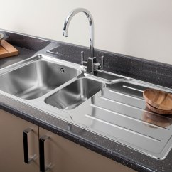 Faucet For Kitchen Sink Black Canisters Chrome Or Brushed Steel Finish Tap Your