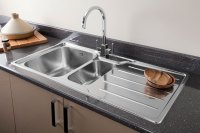 Chrome or brushed steel finish kitchen tap for your ...