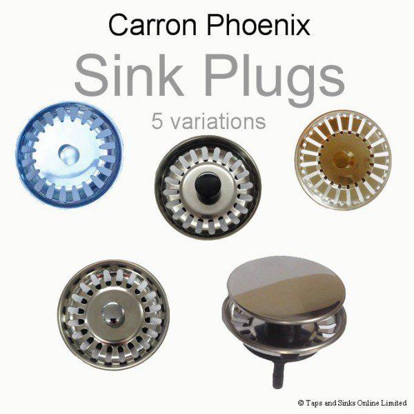 carron phoenix plug basket strainers 5 variations