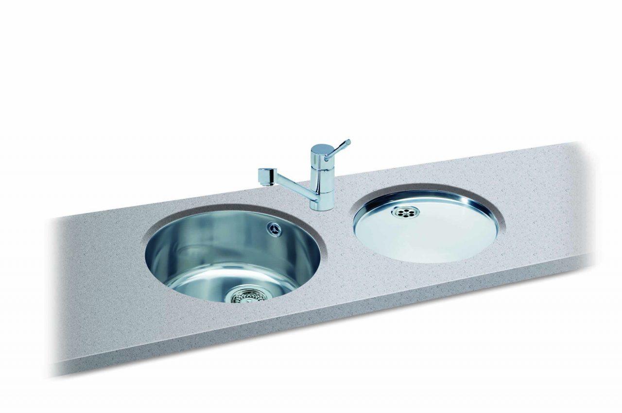 round kitchen sink semi custom cabinets reviews carron phoenix carisma 400 bowl sinks taps