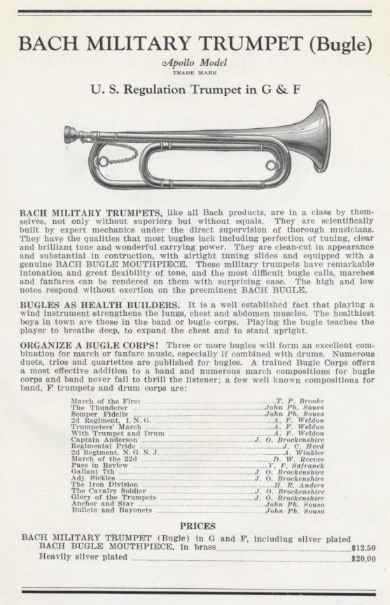 Fig. 1, Bach Bugle--Catalog