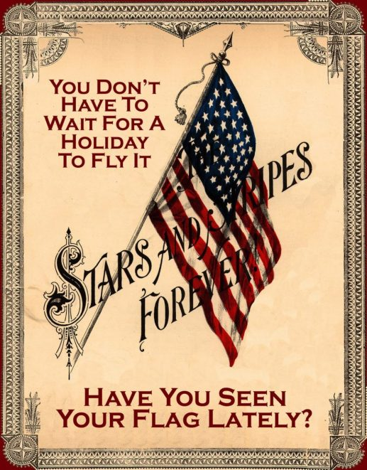 Stars and Stripes vintage ad