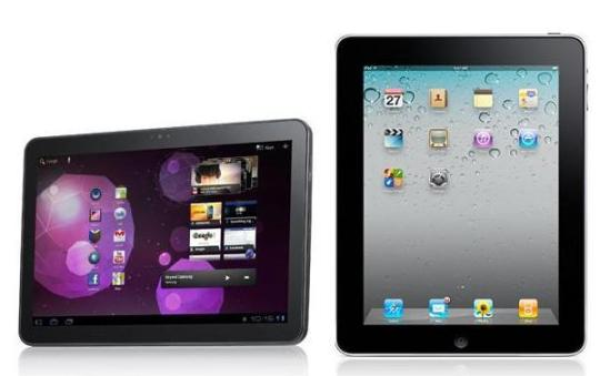 Android and Apple tablet computers