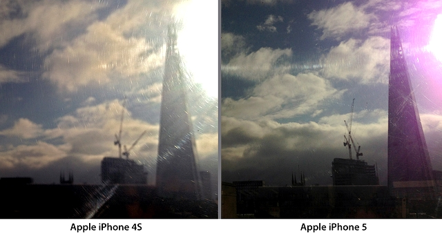 iPhone 5 Purple Flare Comparison