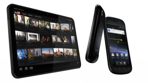 Google Nexus S Motorola Xoom