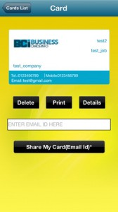 Business Cards Info iPhone App