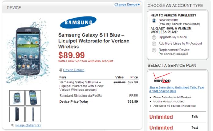 GS3 Waterproof Available at Verizon Wireless, Announced by WireFly
