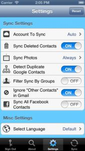 Contacts Sync For Google Gmail iPhone App