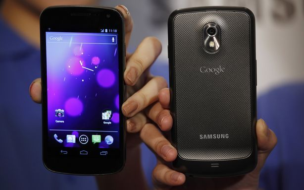 Galaxy Nexus on display