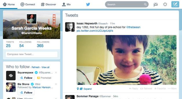 Twitter Web Design Drastically Changed